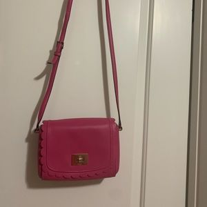 Small Pink Scalloped Kate Spade Crossbody